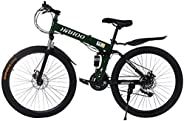 Gleamfut 26 inch Full Suspension Mountain Bike 21 Speed Folding Bike Non-slip Bike