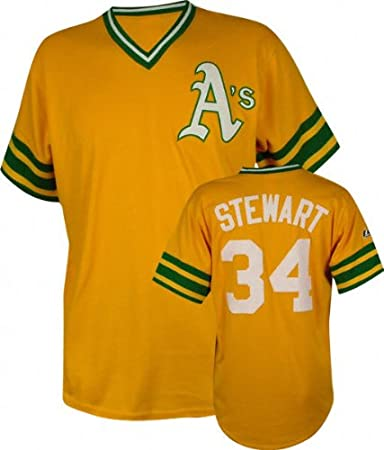 online store 583a7 62968 Amazon.com : Majestic Dave Stewart Cooperstown Throwback ...