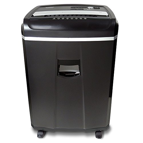 Aurora Professional 20-Sheet Crosscut Paper/Credit Card/CD/DVD Media Shredder with 60 Minutes Continuous Run Time and Pullout Basket