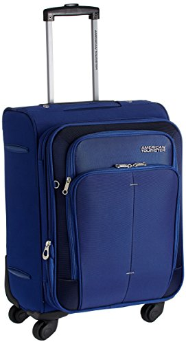 American Tourister Crete Polyester 55cms Ink Blue Softsided Carry-On (49W (0) 01...