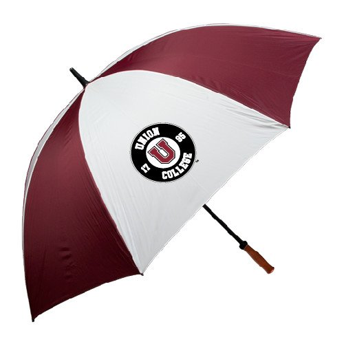 Union College 62 Inch Maroon/White Umbrella 'Official Logo' by CollegeFanGear
