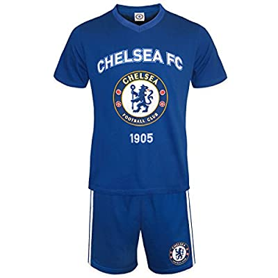 Chelsea FC Official Soccer Gift Mens Loungewear Short Pajamas