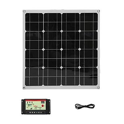 Homgrace 150W Monocrystalline Solar Panel, Outdoor Practical Solar Charging Device Solar Power System