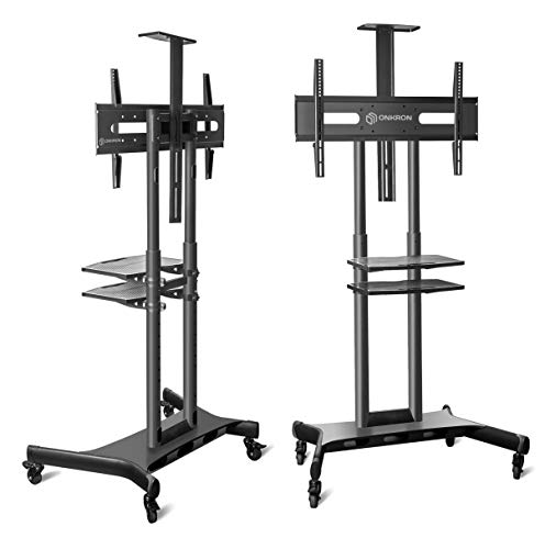 ONKRON Mobile TV Stand with Wheels Rolling TV Cart for 55 to 80 Inch LCD LED Flat Panel TVs (TS1881) by ONKRON (Image #2)