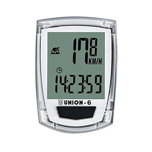 Union de 6–Compteur vélo Blanc/Transparent Marwi 39070