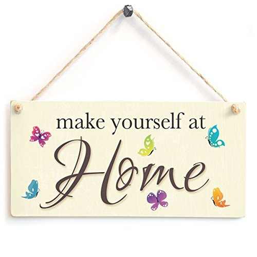 Make Yourself at home - familia bienvenida cartel de madera ...