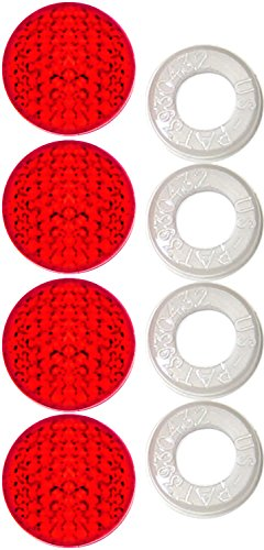 Reflector Plate (Cruiser Accessories 82226 Reflector II Red Fastener Cap)