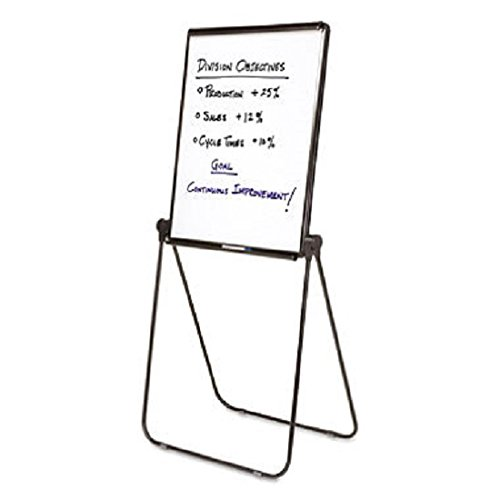 Ultima Presentation Easel, 27 x 34, White Surface, Black Frame, Sold as 1 Each