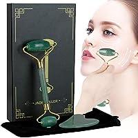 Lictin Rodillo de Jade Facial Masaje- 2 pcs Gua Sha Facial, Masajeador Cara Jade, Masajeador Roller Tools Anti Aging…
