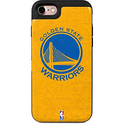 Skinit Golden State Warriors iPhone 7 Wallet Case - Officially Licensed NBA Phone Case - Wallet iPhone 7 - Iphone Team Case Logo