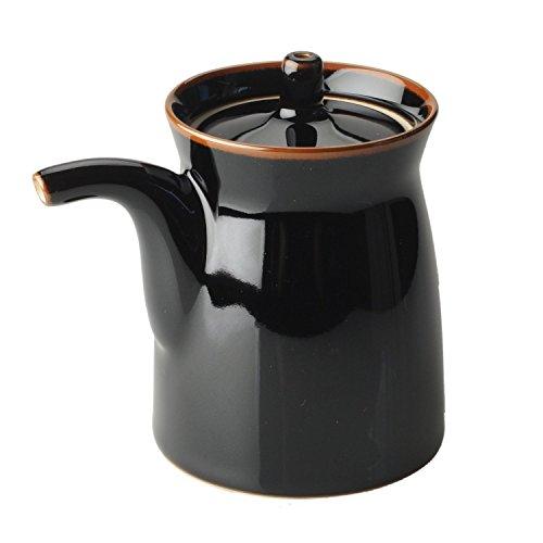 Pottery Sauce (Hakusan pottery G type Soy sauce bottle Size S Black)