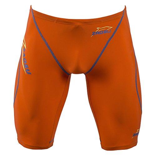 ZAOSU Wettkampf-Schwimmhose Z-Orange Jammer für Herren & Jungen, Größe:140