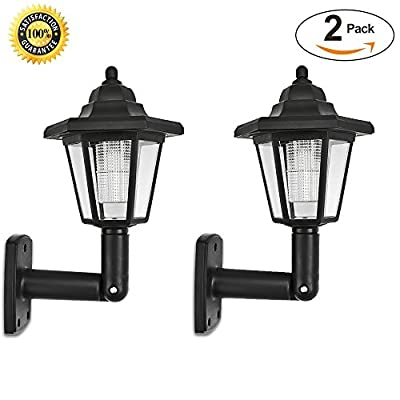 Fornorm Solar LED Wall Lights outdoor- LED Solar Wall Sconces Vintage | Solar Motion Sensor Lights Security Wall Lights For Outside walkway,Wall,Deck,Porch,Garden,Patio,Fence,Garage ( Pack of 2 )