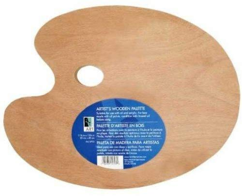Wooden Palette 11.75x15.75 Oval ()