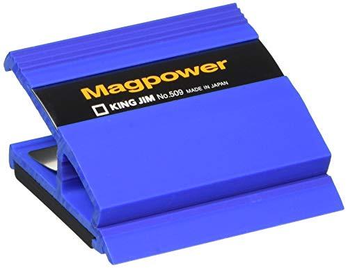 [해외]キングジム 클립 찻잔 파워 509 파랑 / King Jim Clip mag Power 509 Blue