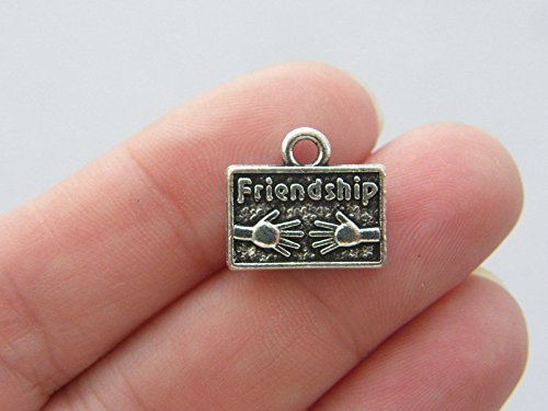 4 Friendship Charms Antique Silver Tone M189