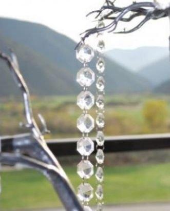 5 Pieces Diamond Hanging Crystal Garland Wedding Strand - 20