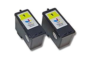 vhbw 2x Cartuchos para impresora cartuchos de tinta Set para Lexmark X3480, Z730, Z735 por Lexmark 1, 18C0781E, 18CX781E.