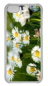 Customized iphone 5C PC Transparent Case - Spring Daisies Personalized Cover
