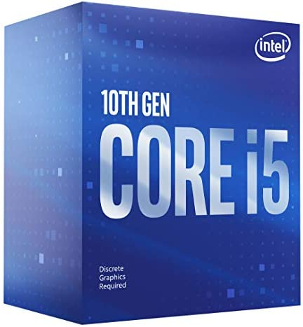 Intel Core i5-10400F Desktop Processor 6 Cores as much as 4.3 GHz Without Processor Graphics LGA1200 (Intel 400 Series chipset) 65W, Model Number: BX8070110400F