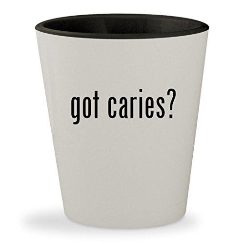 got caries? - White Outer & Black Inner Ceramic 1.5oz Shot - Nc Glass Cary