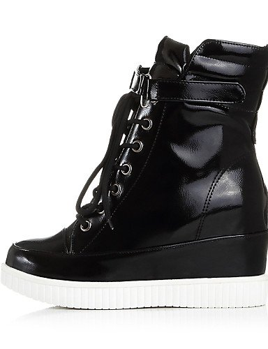 Plata Zapatos Cn39 Eu37 Vestido Negro Punta Mujer Semicuero Uk4 A Uk6 Xzz Casual Moda 5 Redonda us6 Silver 5 us8 7 Cn37 La 5 De Eu39 Plataforma Botas Silver 6qHxdCw