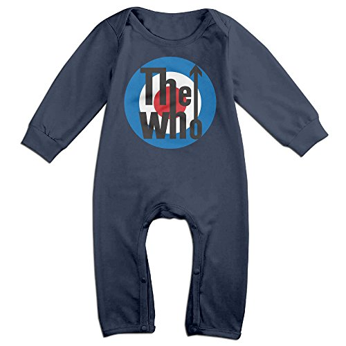 Price comparison product image PCY Newborn Babys Boy's & Girl's Rock Band Who Arrows Logo Long Sleeve Baby Climbing Clothes For 6-24 Months Navy Size 12 Months