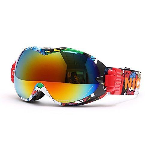SE7VEN Lunettes Pour Les Sports D'hiver,Double Couche Anti-buée Sphériques Panoramique Lunettes De Ski Unisexe Escalade Des Lunettes De Protection Otg U