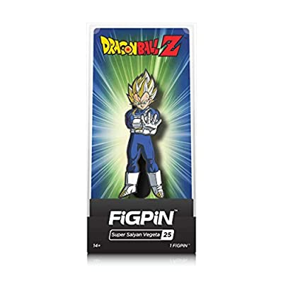 FiGPiN Dragon Ball Z: Super Saiyan Vegeta - Collectible Pin with Premium Display Case: Video Games