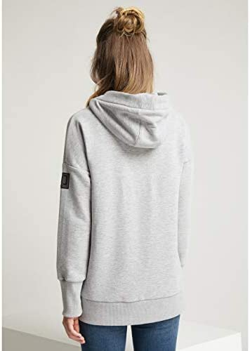 Elbsand Damen Kapuzensweatshirt ES LYSA Grey hellgrau/schwarz - M