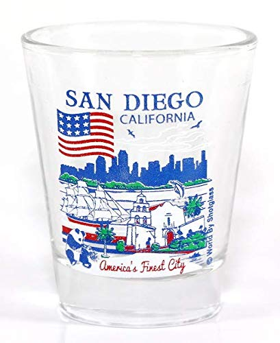 San Diego California Great American Cities Collection Shot Glass