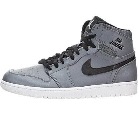 NIKE Men's Air Jordan 1 Retro High Cool Grey/White-Black-White High-Top Basketball Shoe - 9.5M