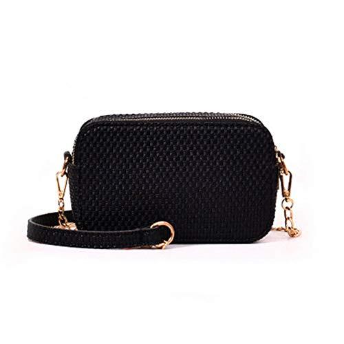 para MENGMA Negro única mujer mochila talla Bolso vEqwraEx8