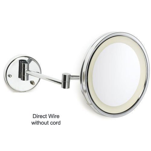 Jerdon HL1016CL-H 9.5'' Chrome Finish LED Lighted Wall Mount Mirror (HardWired Model) by Jerdon