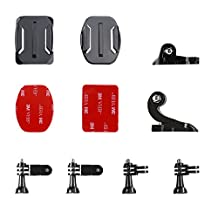 Victure Helmet Front Side Mount Kit, J-Hook Buckle and Buckle Clip Basic Mount for GoPro Hero Session / 5 Hero 1 2 3 3+ 4 5 AKASO VicTsing APEMAN Sports Camera