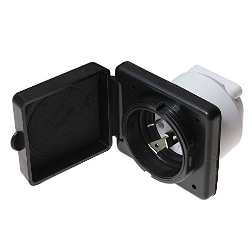 Twist Lock Flanged (RV Power Inlet Twist Lock Plug 30A for Camper (black))
