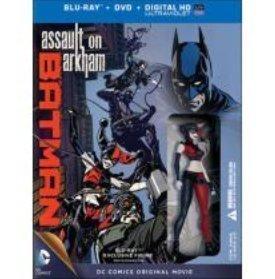 Assault Batman Figure - DCU Batman: Assault On Arkham (Blu-ray Disc) LIMITED EDITION Includes Exclusive Figure - The Joker Queen - Harley Quinn by Warner Home Video