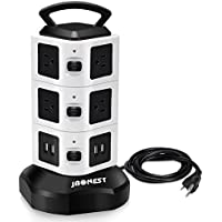 JBonest Power Strip Surge Protector with Multiple Outlets for PC, Laptops & Mobile