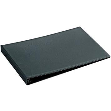 Hetzel 11257491 - Archivador de plástico de anillas (A3, apaisado), color negro: Amazon.es: Oficina y papelería
