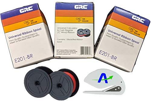General Ribbon GRC Universal Ribbon E201-NTBR, Bundle of 3-Black/Red Ribbons, EPC/ERC