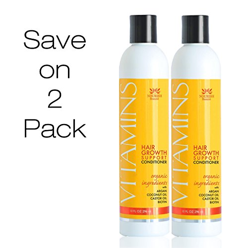 Hair Growth Conditioner - Clinically Proven to Reduce Hair Loss w/ Argan Oil, Biotin + DHT Blockers - Guaranteed – Save With 2 Pack