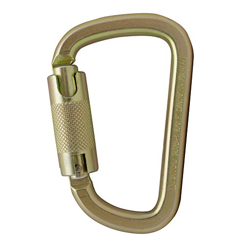 Steel Carabiner - Fusion Climb Tacoma Steel High Strength Auto Lock Modified D-shaped Carabiner