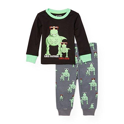 The Childrens Place Baby Dad and Son Dinosaur 2 Piece Pajamas