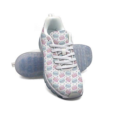 Faaerd Hipster Acquerello Macaron E Cuori Mens Moda Leggero Mesh Cuscino Daria Sneakers Sneakers Da Basket