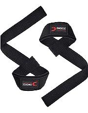 DMoose Fitness Gewichtheffen riemen voor mannen en vrouwen, premium neopreen gewatteerde tillen polsbandjes met maximale gripsterkte voor gewichtheffen, deadlifting, powerlifting en Barbell stabiliteit