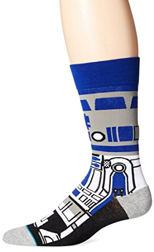 Stance  Star Wars Droid R2D2 C3PO Character Mens Socks, Blue, Sock Size:10-13/Shoe Size: 6-12]()