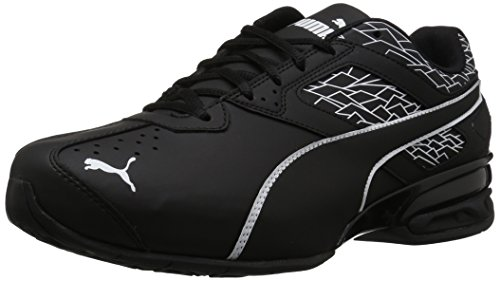PUMA Men's Tazon 6 Wide Fracture FM Sneaker, Puma Black-Puma Black, 8 W US