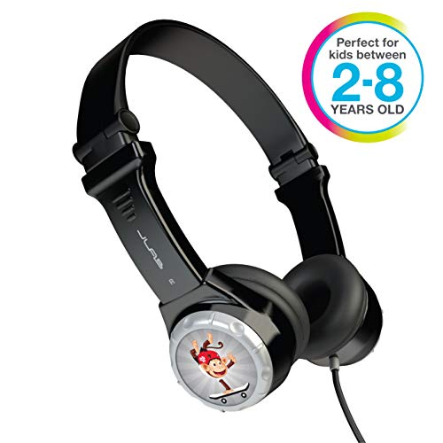 JLAB JK2-BLK-RTL Audio JBuddies Kids- folding, Volume Limiting Headphones, GUARANTEED FOR LIFE - Black -