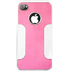 Cell Armor 4S/4-NOV-G01-ED Hybrid Novelty Case for iPhone 4/4S - Retail Packaging - Deluxe Chrome Case/Hot Pink