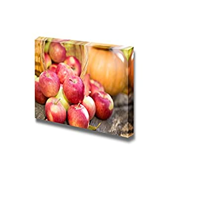Fruits and Vegetables in Autumn Outdoors Thanksgiving Holiday Concept - Canvas Art Wall Art - 32